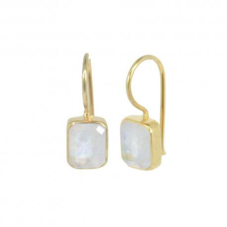 Vergoldete Ohrhänger mit Mondsteinen