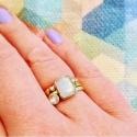 Vergoldeter Silberring mit Herzen