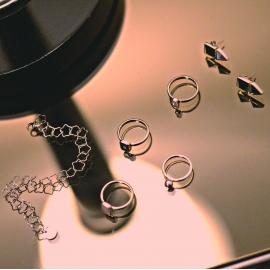 Armband mit Sternen - Silber