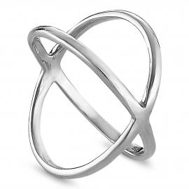 Gekreuzter Ring - Silber
