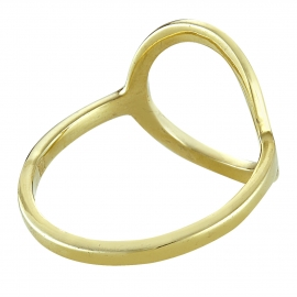 Gold plated silver ring with big circle