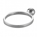 Silver ring with ball