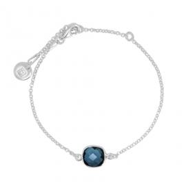 Armband mit blauem Quarz - Silber