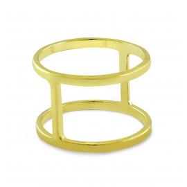 Vergoldeter Kreuzring aus Silber