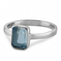Ring with blue quartz - silver