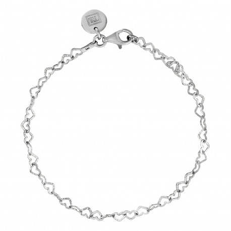 Bracelet with hearts in silver