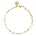 Armband mit Herzen aus vergoldetem Silber