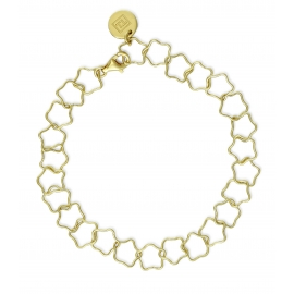 Bracelet with stars - gold plated
