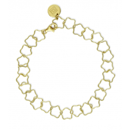 Bracelet with stars in gold plated silver