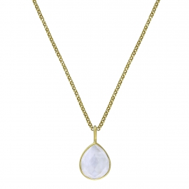 Necklace with moonstone drop - gold plated