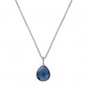 Kette mit blauem Quarz Tropfen - Silber