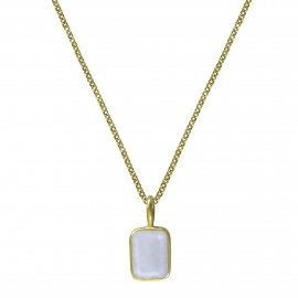 Necklace with small moonstone - gold plated