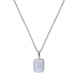 Necklace with small moonstone - silver