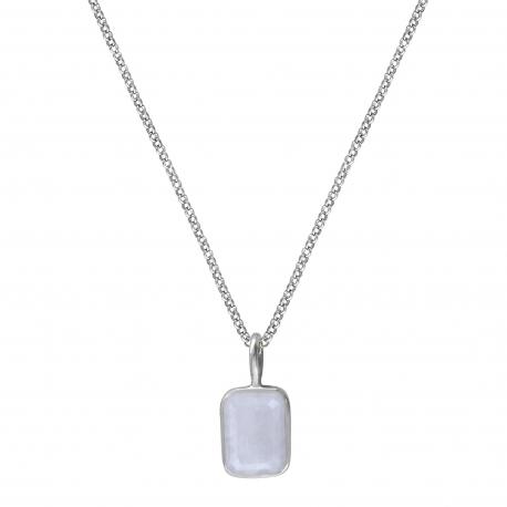 Kette mit kleinem Mondstein - Silber