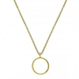Geometrische Kette mit Kreis - Silber