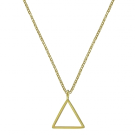 Geometric necklace with triangle - gold plated