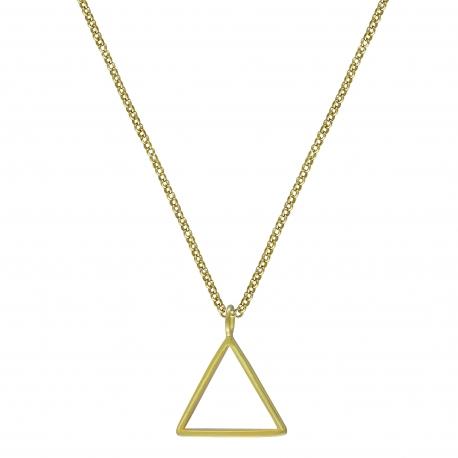 Geometrische Kette mit Dreieck - vergoldet