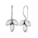 Blüten Ohrhänger mit Mondsteinen - Silber