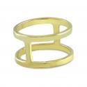 Geometrischer Ring - vergoldet