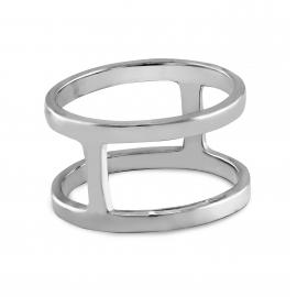 Cross silver ring