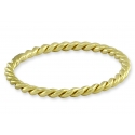 Tiny cord ring - gold plated