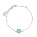 Bracelet with aqua chalcedony in silver