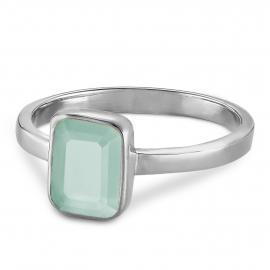 Ring mit Aqua Chalcedon - Silber