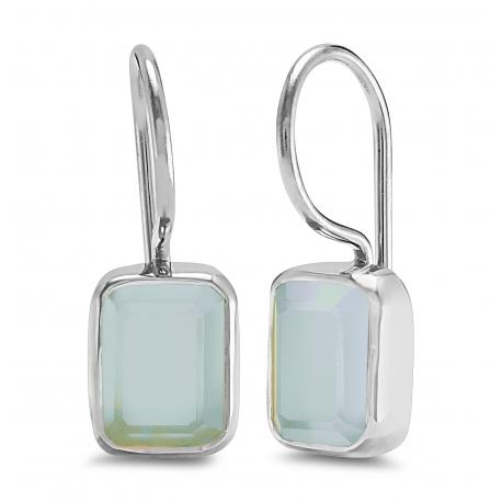 Ohrhänger mit Aqua Chalcedonen - Silber