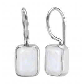 Ohrhänger mit Mondsteinen - Silber