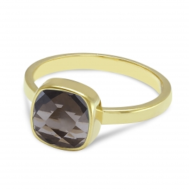 Ring with labradorite - gold plated