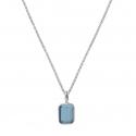 Kette mit kleinem blauem Quarz - Silber