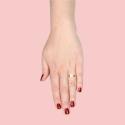 Ring mit Mondstein - vergoldet