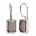 Ring with smoky quartz - silver
