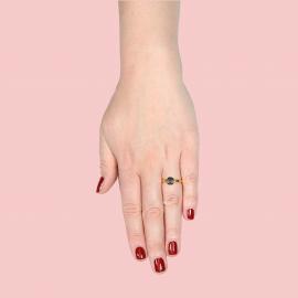 Ring mit Labradorit - vergoldet