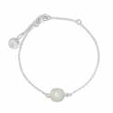 Lange Halskette mit 8 Aqua Chalcedonen - Silber