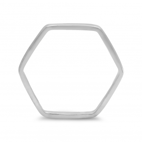 Hexagon Ring - Silber