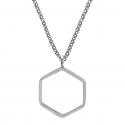 Hexagon ring - Silver