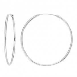 Creoles 15mm, 17.5mm, 20mm, 30mm, 40mm, 50mm - silver