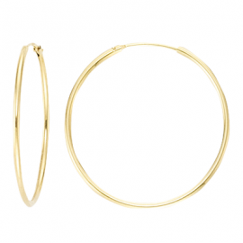 Creoles 15mm, 17.5mm, 20mm, 30mm, 40mm, 50mm - gold plated