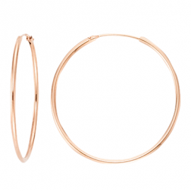 Creoles 15mm, 17.5mm, 20mm, 30mm, 40mm, 50mm, 60mm -rosegold plated