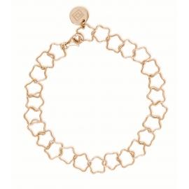 Armband mit Sternen - rosévergoldet
