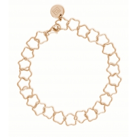 Bracelet with stars - rosegold plated