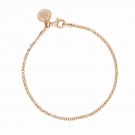 Basic bracelet mini - rosegold plated