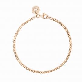 Basic Armband midi - rosévergoldet