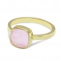 Ohrhänger mit rosa Chalcedonen  - vergoldet