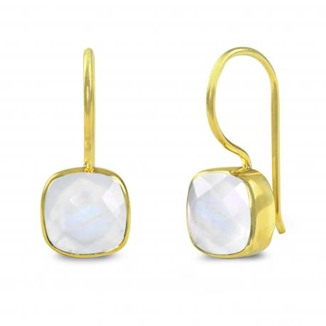 Ohrhänger mit Mondsteinen - vergoldet