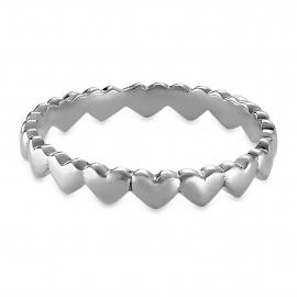 Minimalistic heart-Ring - silver