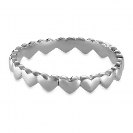 Minimalistischer Herz-Ring - Silber