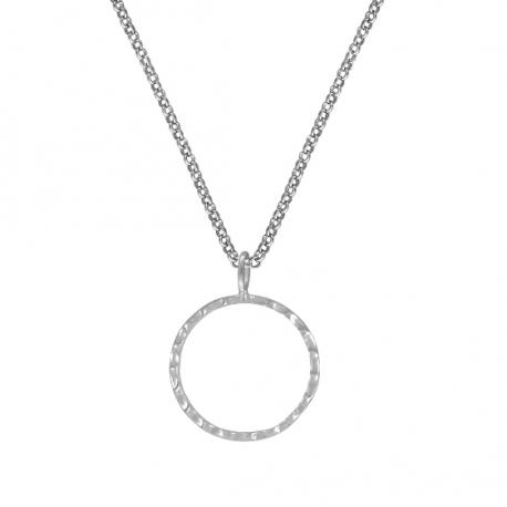 Minimalistische Kette mit Kreis - Silber