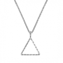 Minimalistic necklace with triangle - silver